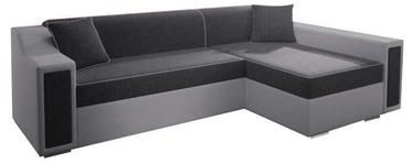 Stūra dīvāns Idzczak Meble Milton Mini Bahama 35/31 Gray, 282 x 160 x 77 cm