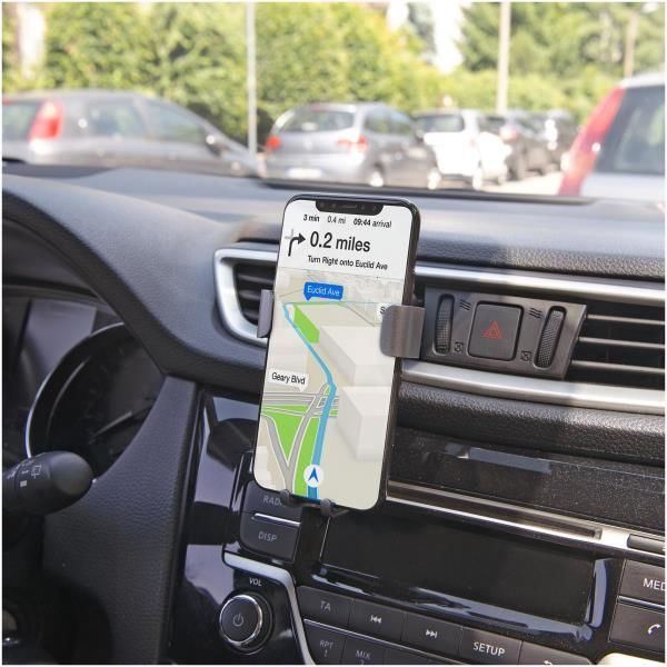 Celly Wireless Car Holder With Qi Charger Black