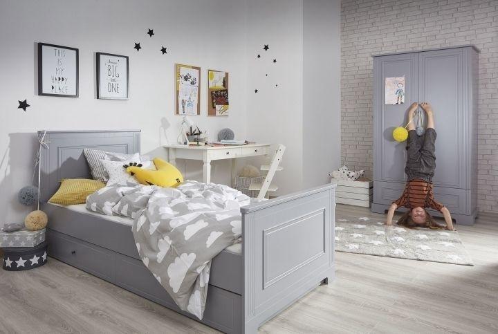 Vaikiška lova Bellamy Ines Grey, 208x93 cm