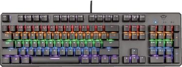 Žaidimų klaviatūra Trust GXT 865 GXT-Red EN, juoda