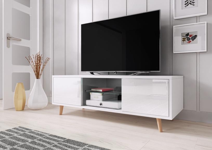 TV galds Vivaldi Meble Sweden 1, balta, 1400x420x450 mm