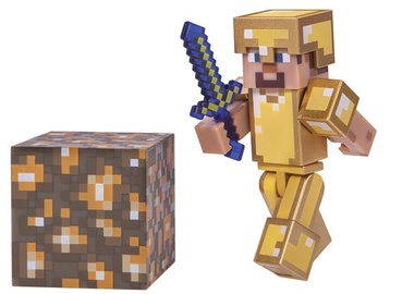 Žaislinė figūrėlė Jazwares Minecraft Steve in Golden Armor Series 3