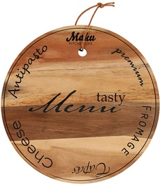 Разделочная доска Maku Tasty Menu Cheese, коричневый, 280x280 мм