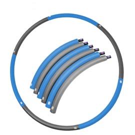 Vingrošanas loks SportVida foldable, 900 mm, 0.7 kg, zila/pelēka