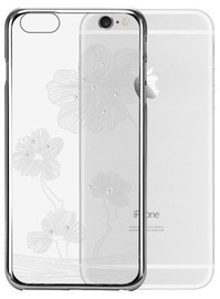 X-Fitted Lotus Swarovski Crystals Back Case For Apple iPhone 6/6s Silver