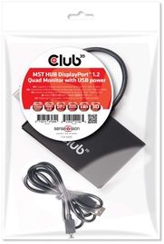 Club 3D MST Hub DisplayPort 1.2 Quad Monitor USB Powered 0.18m Black