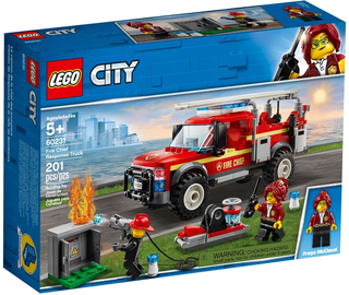 Konstruktorius LEGO City Fire Chief Response Truck 60231