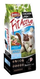 Sausas ėdalas katėms Fit Active Sensitive, su vištiena ir žuvimi, 1.5 kg