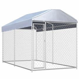 Koerapuur VLX Outdoor Dog Kennel w/ Roof, 3820x1920x2250 mm