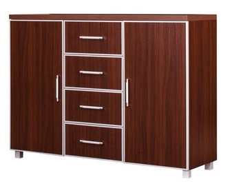 Bodzio Bodziosystem BS23 Chest Of Drawers Walnut