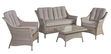 Home4you Pacific Garden Furniture Set Beige/Grey