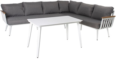 Home4you Corner Sofa And Table Harvest Gray