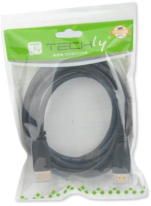 Techly HDMI/HDMI Male 0.5m Black