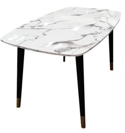 Pusdienu galds MN 3059034 Black/White, 1400x800x760 mm