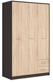 Black Red White Nepo Large Wardrobe Wenge&Sonoma Oak