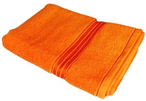 Verners Frotee Wick Pattern 70x140cm Orange