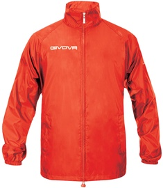 Givova Basico Rain Jacket Red 2XS