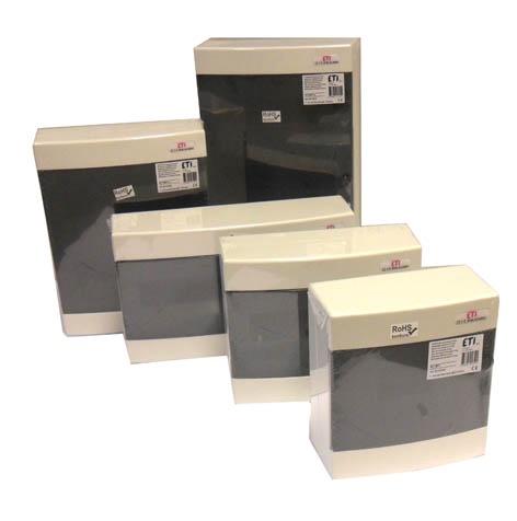 Virštinkinė automatinių jungiklių dėžutė Eti, 8 modulių