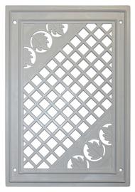 Ventilācijas reste  ar mozaīku Plaskanta 17x25cm, balta