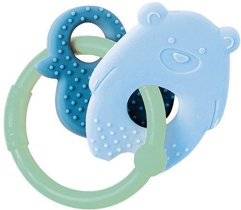 Nattou Teething Toy Bear & Duck Blue/Green