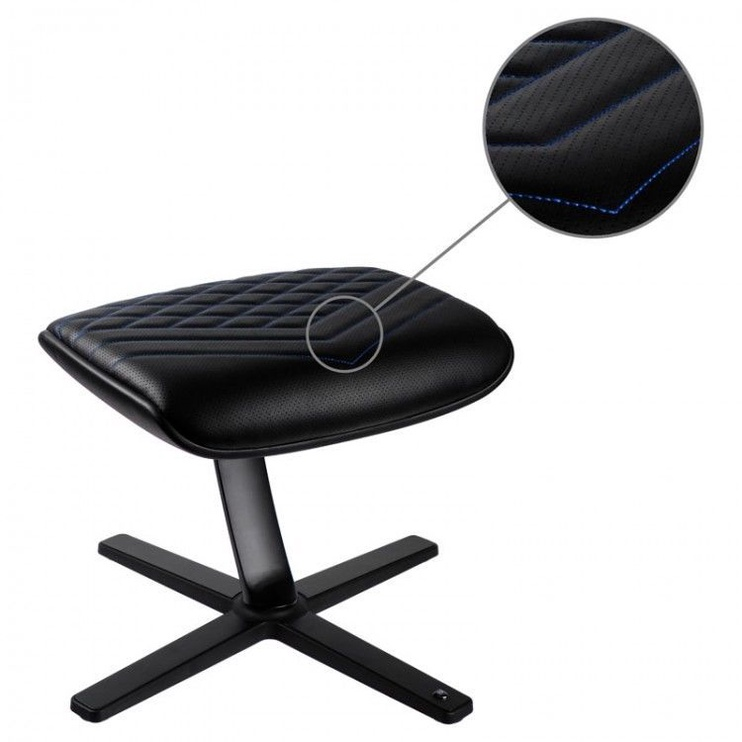 Noblechairs Footrest PU Leather Black/Blue