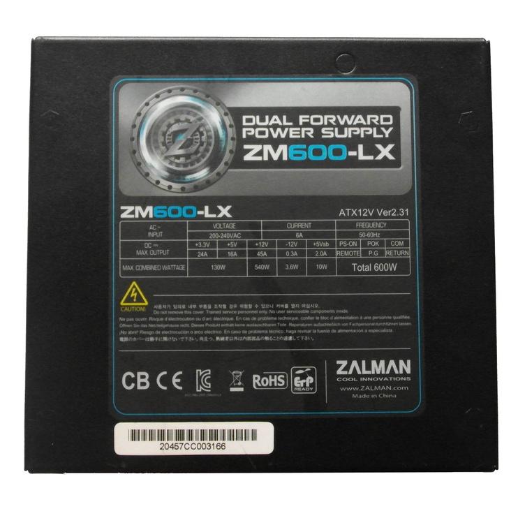 Maitinimo blokas Zalman ZM600-LX, 600W