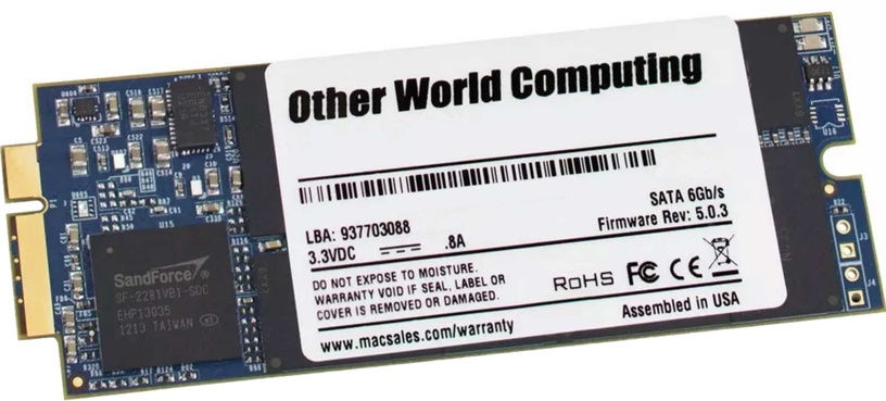 OWC Aura Pro 250GB Macbook Pro Retina SSD For 2012 to Early 2013 MacBook Pro OWCS3DAP12R250