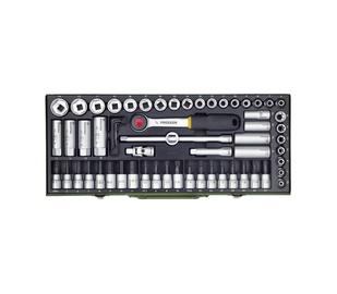 """Sukimo įrankių rinkinys Proxxon 23112, 6-24 mm, 3/8"""", 65 vnt."""