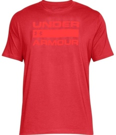 Under Armour T-Shirt Wordmark 1314002-600 Red XL