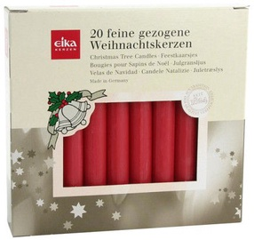 Eika Christmas Tree Candles Red 20pcs