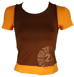 Bars Womens T-Shirt Brown/Yellow 134 M