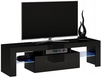TV galds Top E Shop Deko 140, melna, 1400x400x450 mm