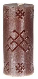 Verners Candle 6x14cm Brown/Silver