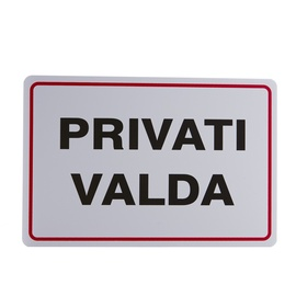 Private Property Warning Sign 200x300mm EE