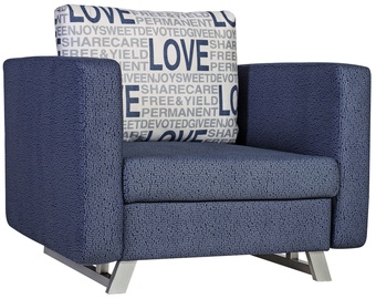 Home4you Armchair Bed Lucky Blue 11642