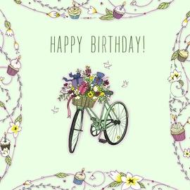 Clear Creations Birthday Bike Card CL1924