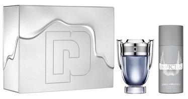 Набор для мужчин Paco Rabanne Invictus 100 ml EDT + 150 ml Deodorant Spray 2017