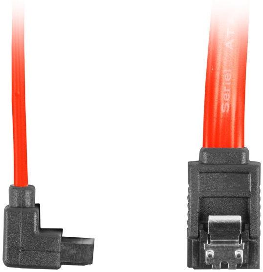 Lanberg SATA To SATA Angled Red 0.5m