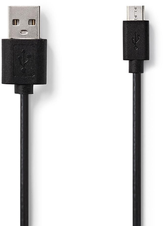 Nedis USB 2.0 Cable A To microB 2m Black