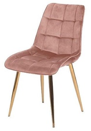 Valgomojo kėdė Signal Meble Chic Velvet Pink/Gold, 1 vnt.