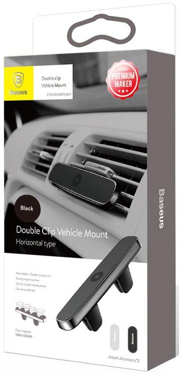 Baseus Double Clip Magnetic Holder Air Vent Mount Black