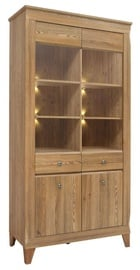 Black Red White Bergen Glass Door Cabinet Larch