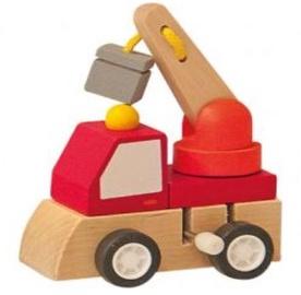 Woody Clockwork Construction Machine Red 91000