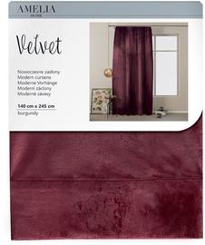 Nakts aizkari AmeliaHome Velvet Pleat, 1400x2450 mm