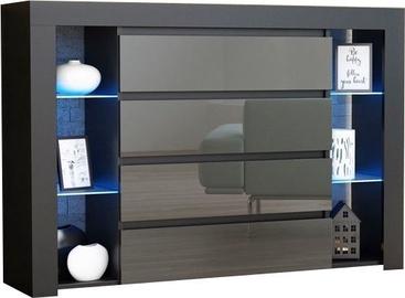Комод Pro Meble Milano 4SZ Black/Grey