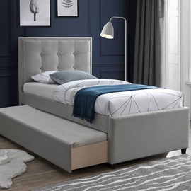 Home4you Oswaldo Bed 90x200 Grey