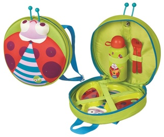 Oops Ladybug Winkling Lights Backpack With Weaning Set 4pcs