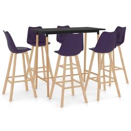 Обеденный комплект VLX 287251, коричневый/фиолетовый