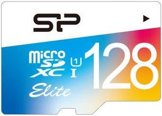 Silicon Power Elite Colorful microSDXC 128GB UHS-I Class 10 + SD Adapter