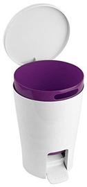 Tatay Bathroom Pedal Bin 5l Diabolo Purple